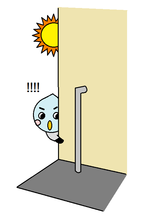 日陰の配管