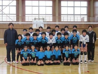 住吉女子と北斗中学の記念写真