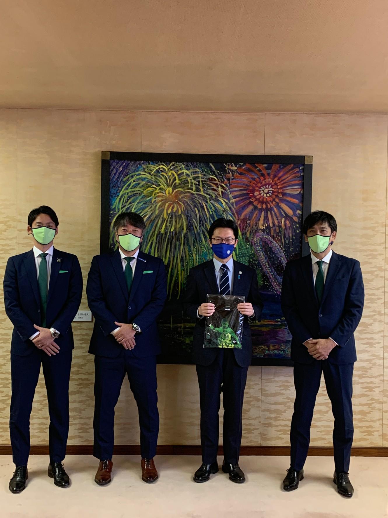 ガイナーレ鳥取市長表敬訪問