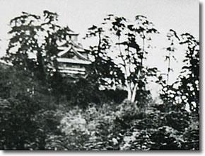 写真:取り壊される前の米子城