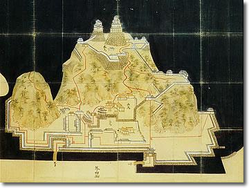 画像:米子城絵図